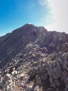 Ridge climbing to Mt Sherman